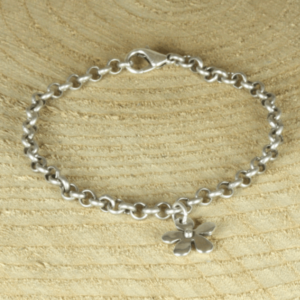 silverplated jasseronarmbandje bloem