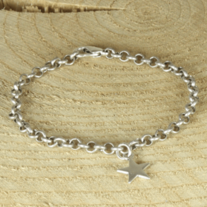 jasseron armband silverplated met ster