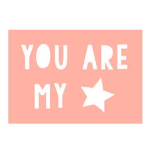 kaart You are my star - roze