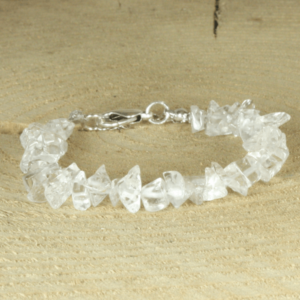 armband van kristalheldere glaschips