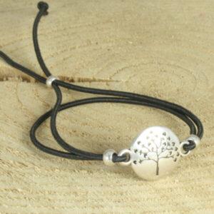 elastisch armbandje levensboom zwart