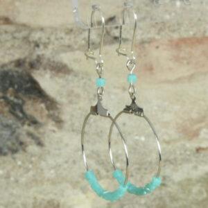 oorbellen creool turquoise