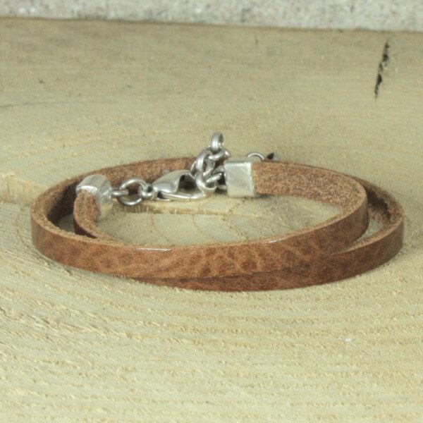 wikkelarmband basis cognacbruin