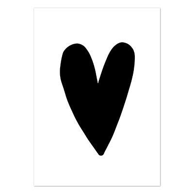 kaart zwart hart