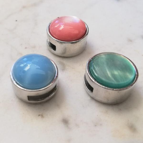 set sliders roze blauw groen
