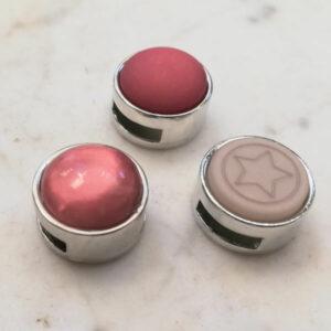 set sliders roze grijs