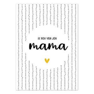 kaart ik hou van jou mama