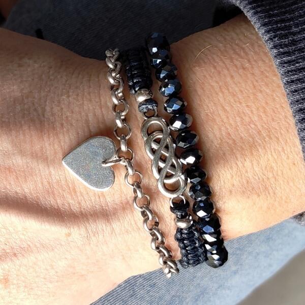 armbandenset Oneindige liefde blauw