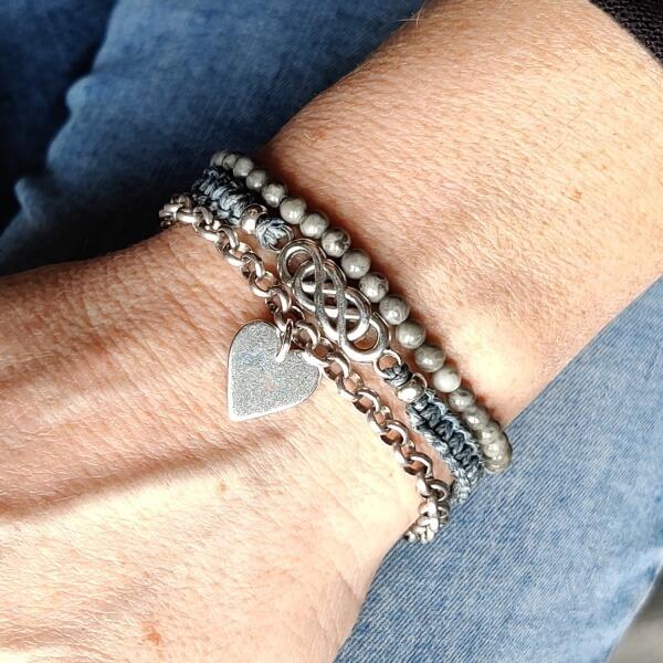 armbandenset Oneindige liefde grijs