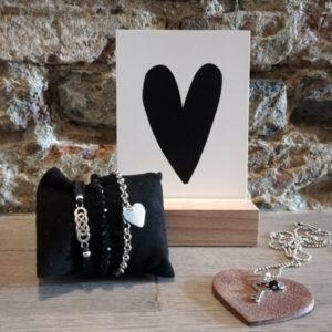 liefde per post sieradenset zwart bruin